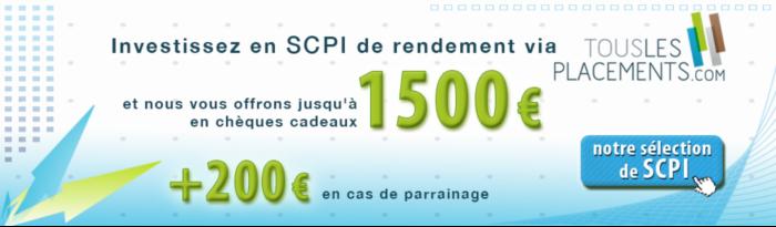chèques cadeaux SCPI conditions offre