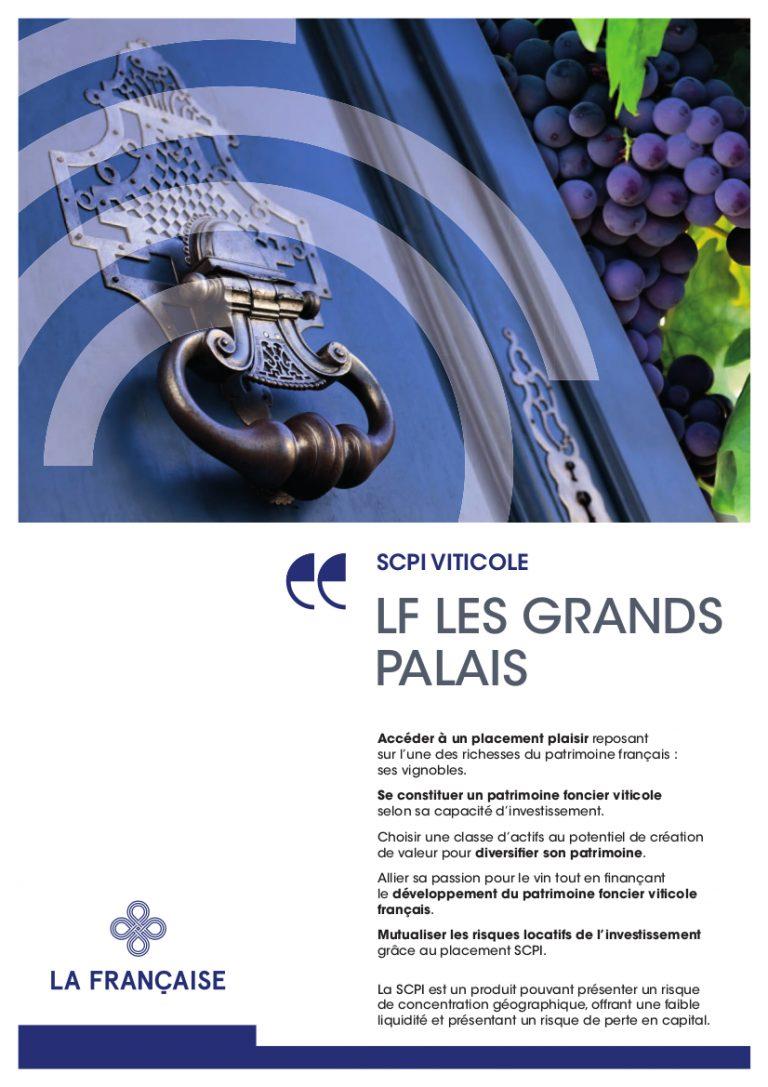 Lancement de LF Les Grand Palais, la 1ère SCPI viticole
